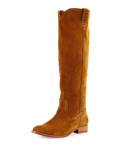 CARA SUEDE KNEE BOOT, WHEAT