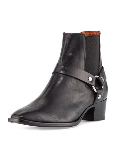 Dara Harness Chelsea Boot, Black