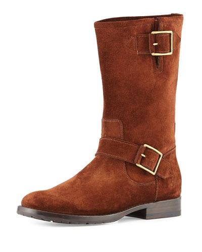 Natalie Mid Engineer Boot, Brown
