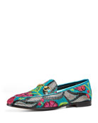 New Jordaan Brocade Horsebit Loafer, Multi