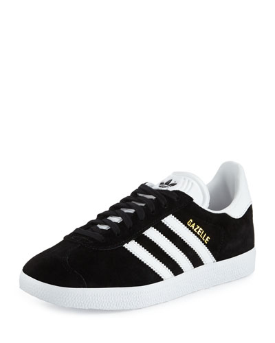 Gazelle Original Suede Sneaker, Black/White