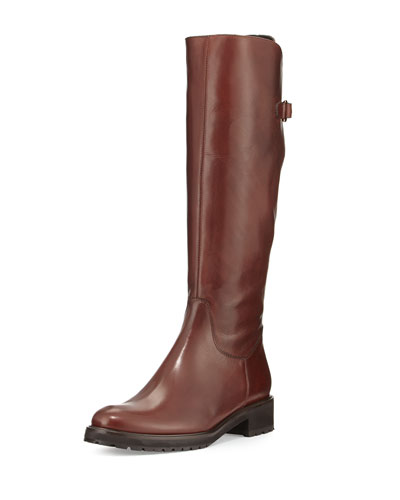 Wildee Adjustable Leather Knee Boot, Tizian