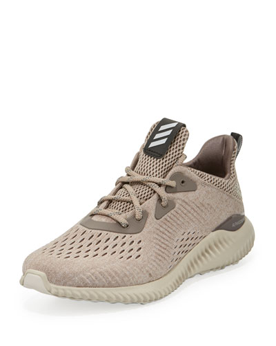 Alphabounce Engineered Mesh Sneaker, Tech Earth/Clear Brown/Crystal White