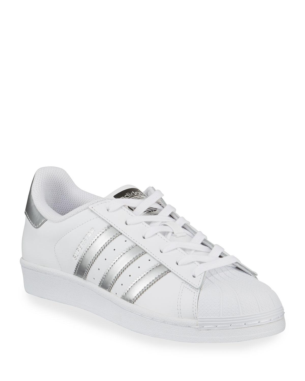 Superstar Original Fashion Sneakers, White/Silver