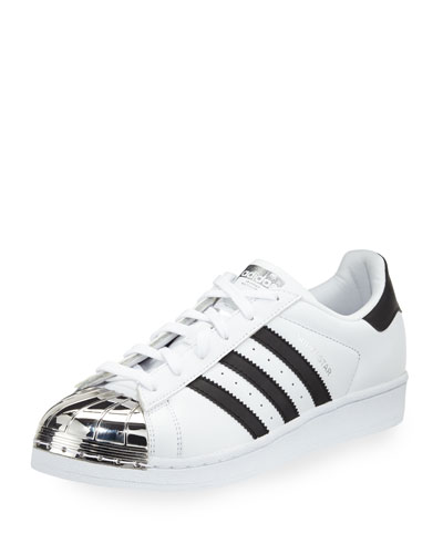 Superstar Metal-Toe Fashion Sneaker, White/Black/Silver