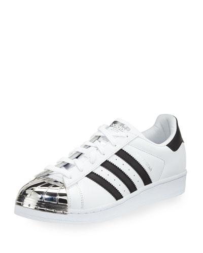 Superstar Metal-Toe Fashion Sneaker, White/Black/Silver