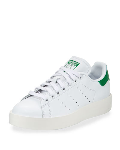 Stan Smith Bold Fashion Sneaker, White/Green