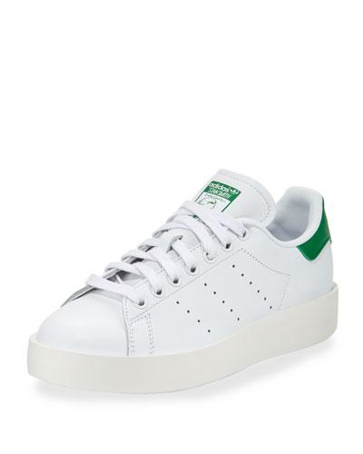 Stan Smith Bold Fashion Sneaker, White/Green
