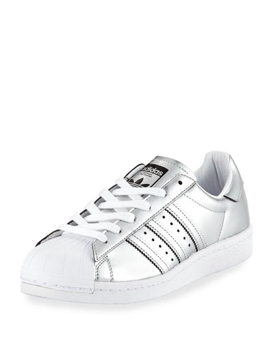 Superstar Metallic Leather Sneaker, Silver