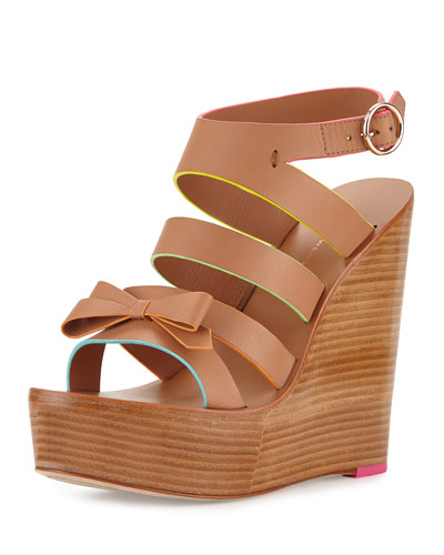 Samara Strappy Wedge Sandal, Tan