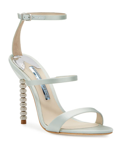 Rosalind Strappy Bridal Sandal, Ice Blue
