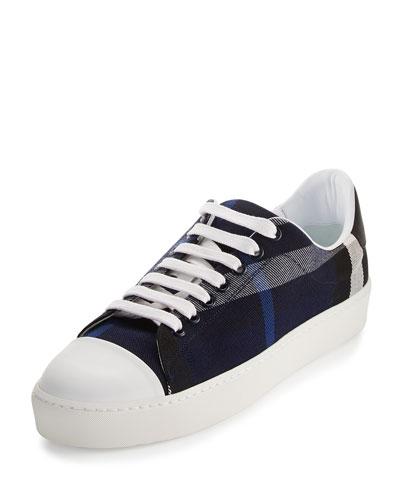 Westford Check Low-Top Sneaker, Indigo Blue