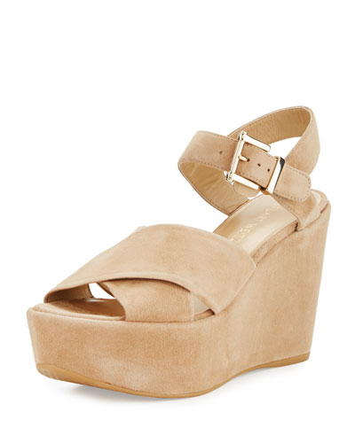 Realdeal Suede Wedge Sandal, Mojave