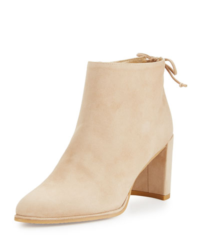 Lofty Suede Ankle Boot, Mojave