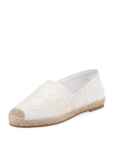 Star Flat Slip-On Espadrille, White/Ivory