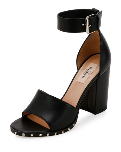 Soul Rockstud 90mm City Sandal, Nero
