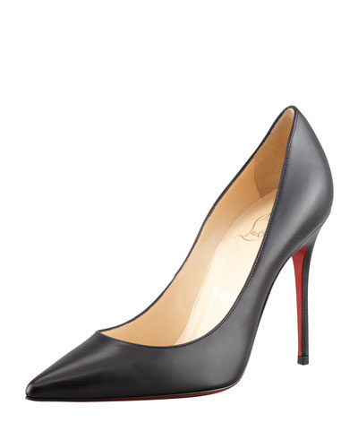Decollette Red Sole Pump, Black