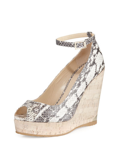 Pacific 120mm Peep-Toe Wedge Pump, Rocca