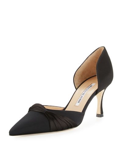 Lisy Crepe d'Orsay 70mm Pump, Black