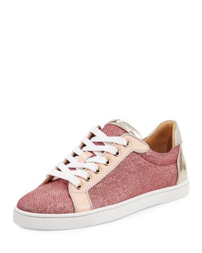 Seava Woman Glitter Red Sole Low-Top Sneaker