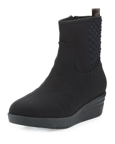 Naji Weatherproof Demi-Wedge Bootie, Black