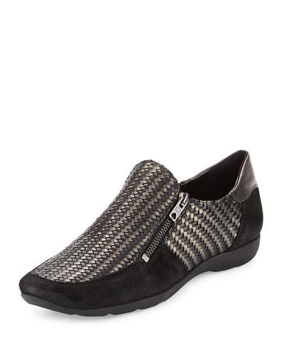 Ganice Woven Comfort Flat, Black