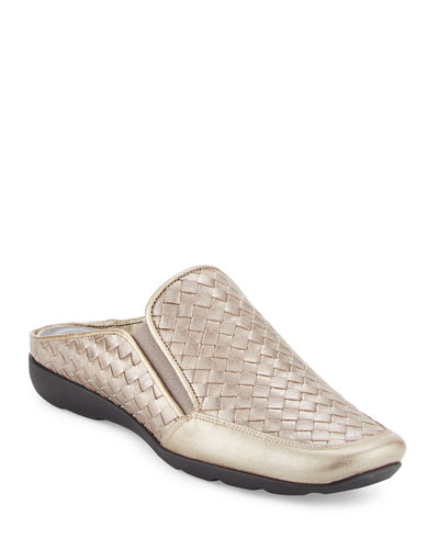 Galaxy Woven Comfort Mule, Gray