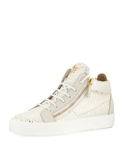 May London Ofelia High-Top Sneaker, Milk