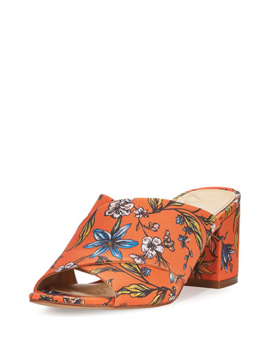 Stanley Floral Crisscross Sandal, Orange