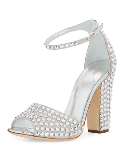 Silver Studded Shoes | Neiman Marcus