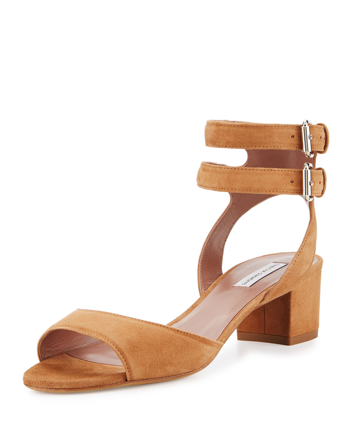 Aimee Suede Ankle-Wrap Sandal