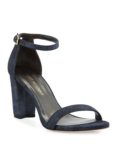 Nearlynude Denim City Sandal, Navy