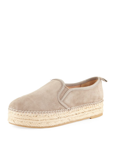 Carrin Suede Espadrille Slip-On Flat