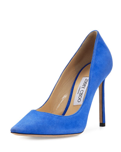 Romy Suede 100mm Pump