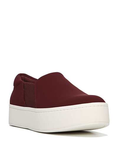 Warren Micro-Stretch Platform Sneaker, Oxblood