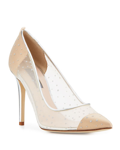 Glass Mesh 100mm Pump, Beige