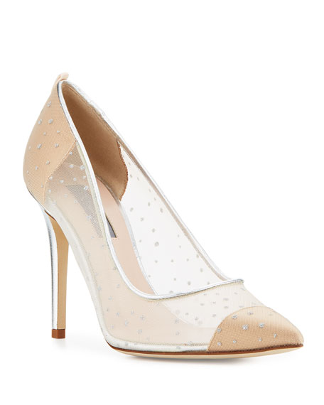 SJP by Sarah Jessica Parker Glass Mesh 100mm Pumps, Beige