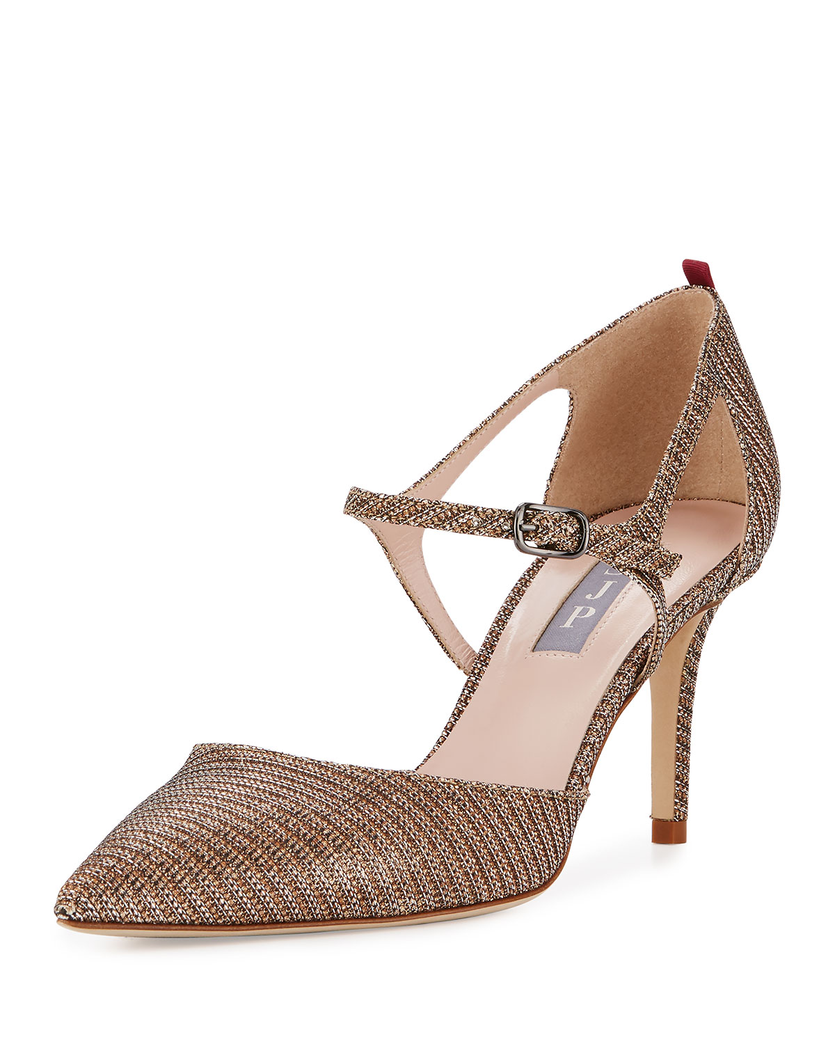 Phoebe Shimmery Mary Jane Pump, Gold