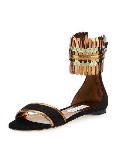 Kimro Suede Ankle-Wrap Sandal
