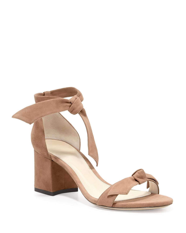 Clarita Suede Block-Heel Sandals