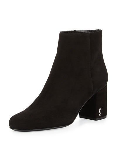 Babies Suede 70mm Bootie, Black