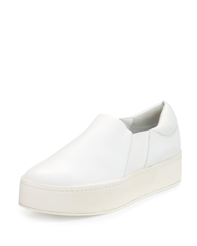 Warren Leather Platform Skate Sneakers