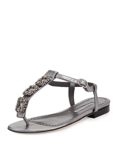 Ottolina Crystal T-Strap Sandal
