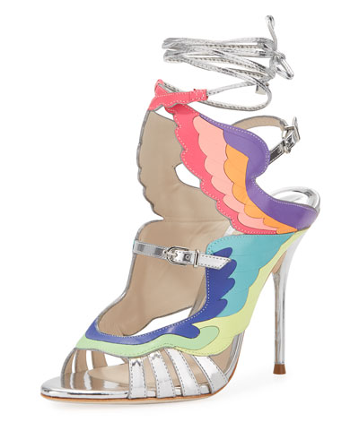 Fire Bird Metallic Cutout Sandal, Multi