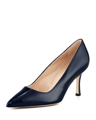 BB Patent 70mm Pump, Navy