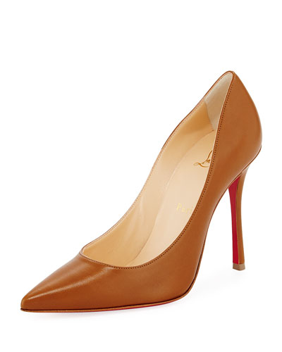 Decoltish Point-Toe Red Sole Pump, Safari