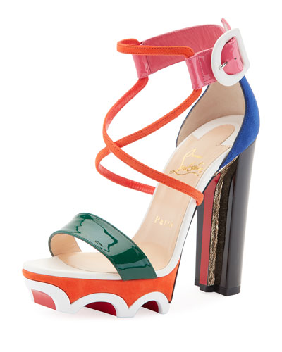 Atletika Colorblock Red Sole Sandal, Multi