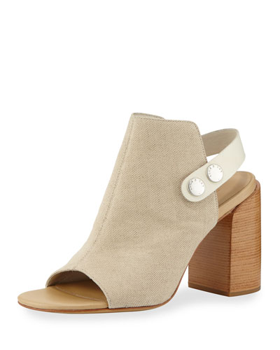 Leigh Canvas City Sandal, Beige