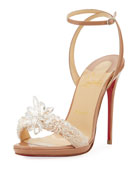 Crystal Queen Embellished Sandal, Nude