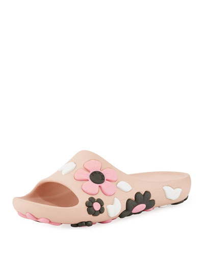 Rubber Flower Slide Sandal